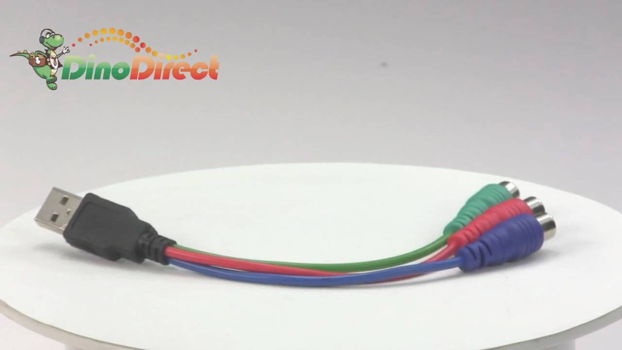 18Cm Usb To 3 Rca Video Converter Cable For Psp From Dinodirect - Usb To Rca Wiring Diagram