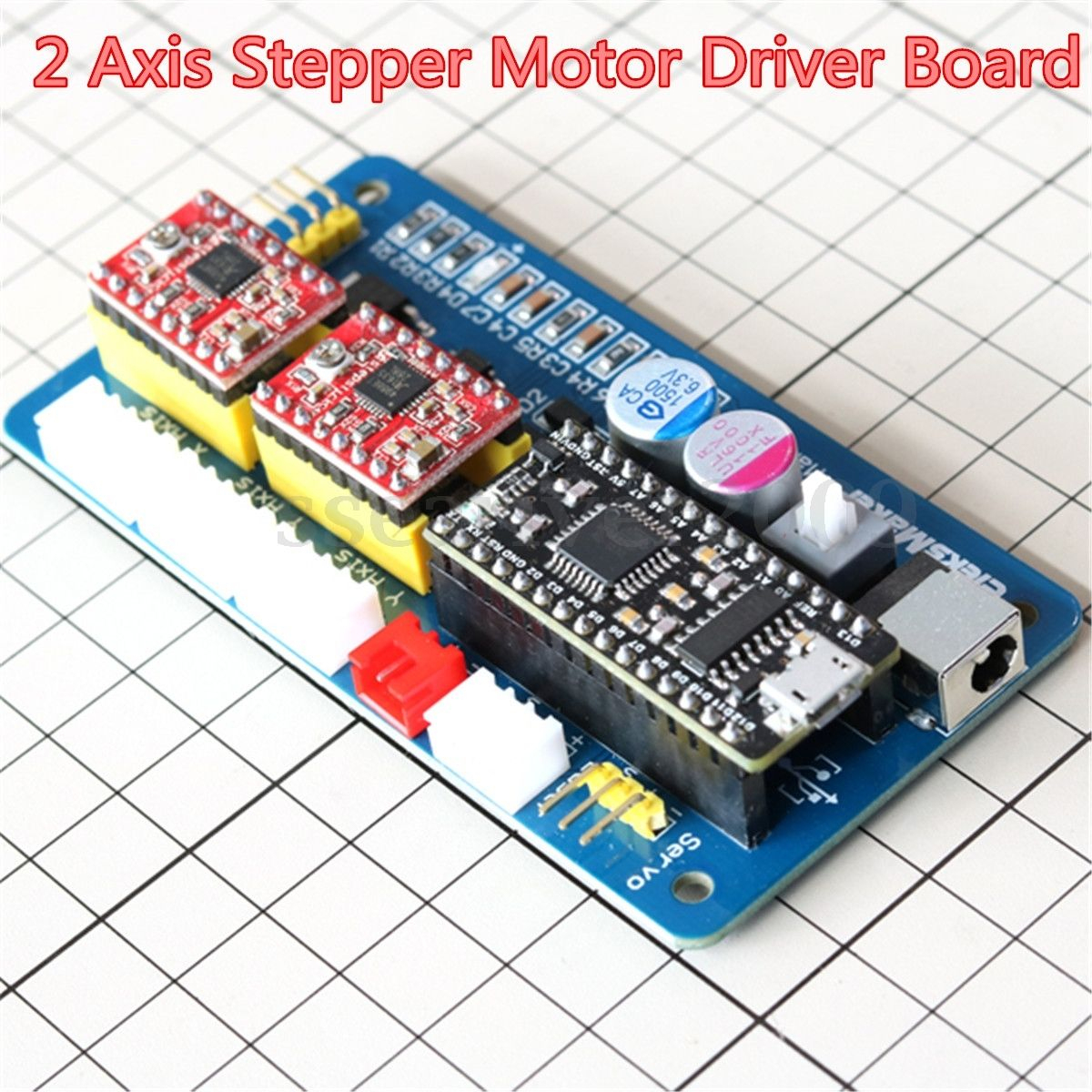 2 Axis Usb Cnc Stepper Motor Control Board Driver 12V Power For - Usbcnc 3 Axis Stepper Motor Usb Driver Board Controller Laser Board For Cnc Wiring Diagram