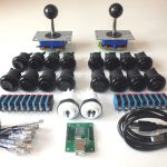 2 Black Arcade Joystick Control Kit 18 Concave Buttons & Usb   Xin Mo Usb Encoder Raspberry Pi Wiring Diagram