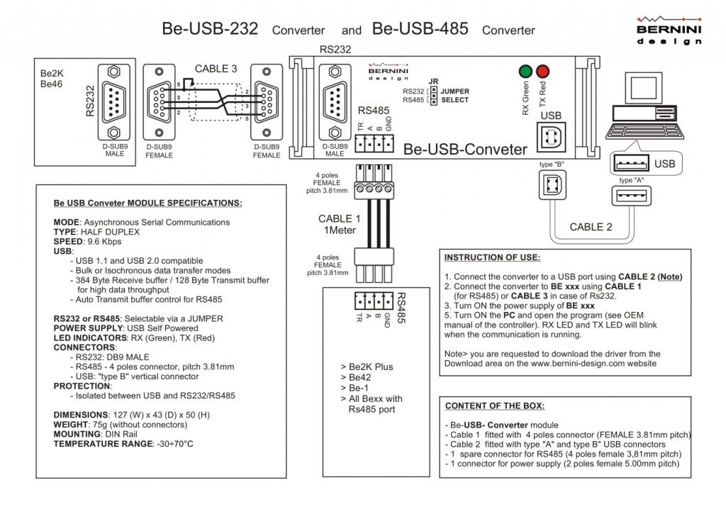 232 to 485 wiring diagram serial connector