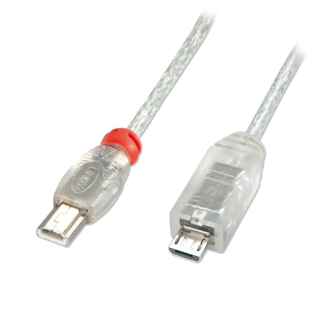 2M Usb Otg Cable - Transparent, Type Mini A To Micro B - From Lindy Uk - Usb Otg Cable To Micro Usb To Mini Usb Wiring Diagram