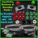 "2X Joysticks & 16X Buttons & 2X Xin Mo ""Single Player"" Usb Encoder   Xin Mo Usb Encoder Raspberry Pi Wiring Diagram"