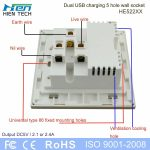 5 Pin Plug Hole Wall Switch Socket Outlet Usb 5V 2.1A Wall Socket   Usb Outlet Cover Wiring Diagram