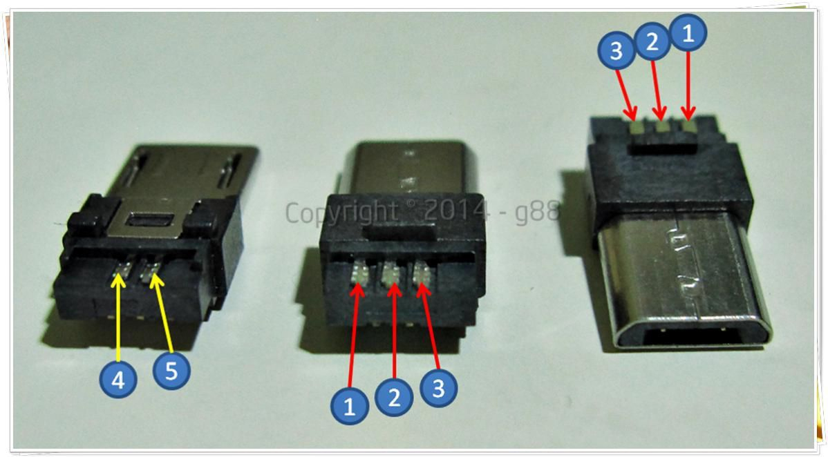 5 Pins Micro Usb Pin Out | Electronic & Electric Stuff | Usb, Usb - Usb Micro Plug Wiring Power Diagram