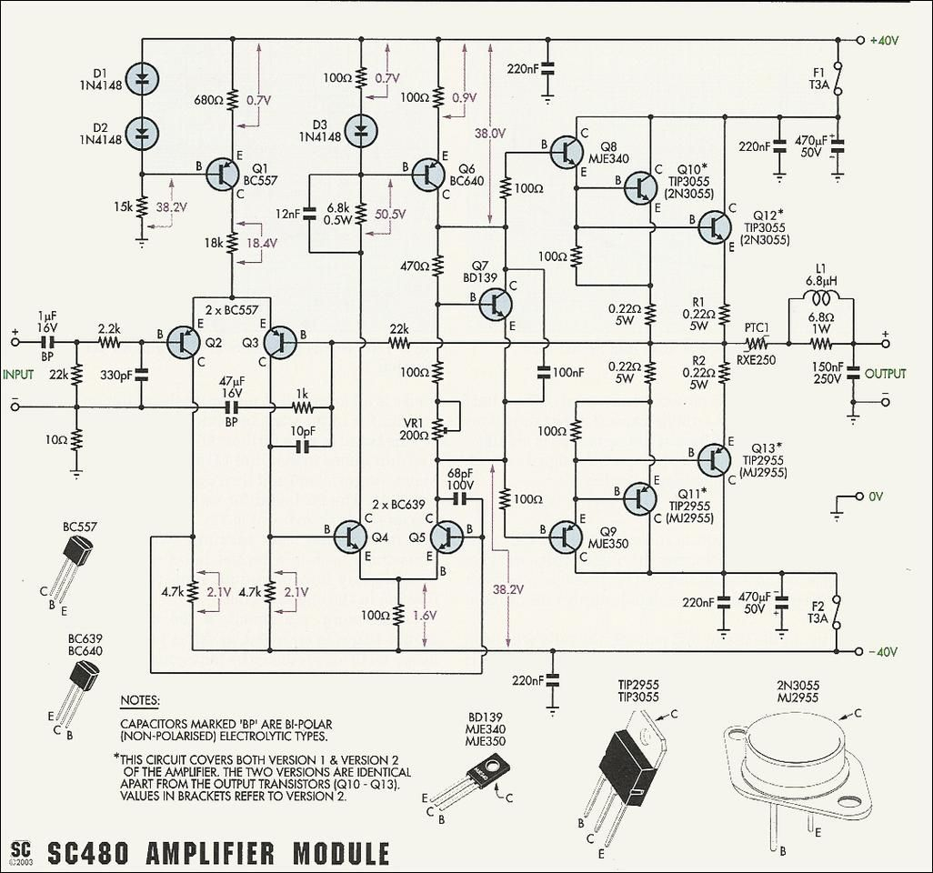 50W-70W Power Amplifier With 2N3055 & Mj2955 | Electronic | Circuit - Wiring Diagram Usb Powered Speakers