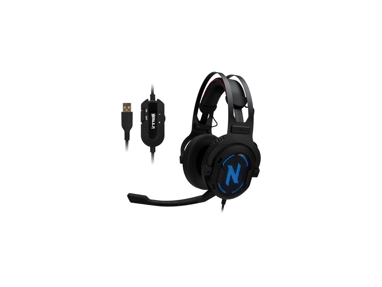 7.1 Surround Sound Gaming Headset, Rgb Headphones, Memory Foam Ear - Wiring Diagram Of Rosewill Usb Headset
