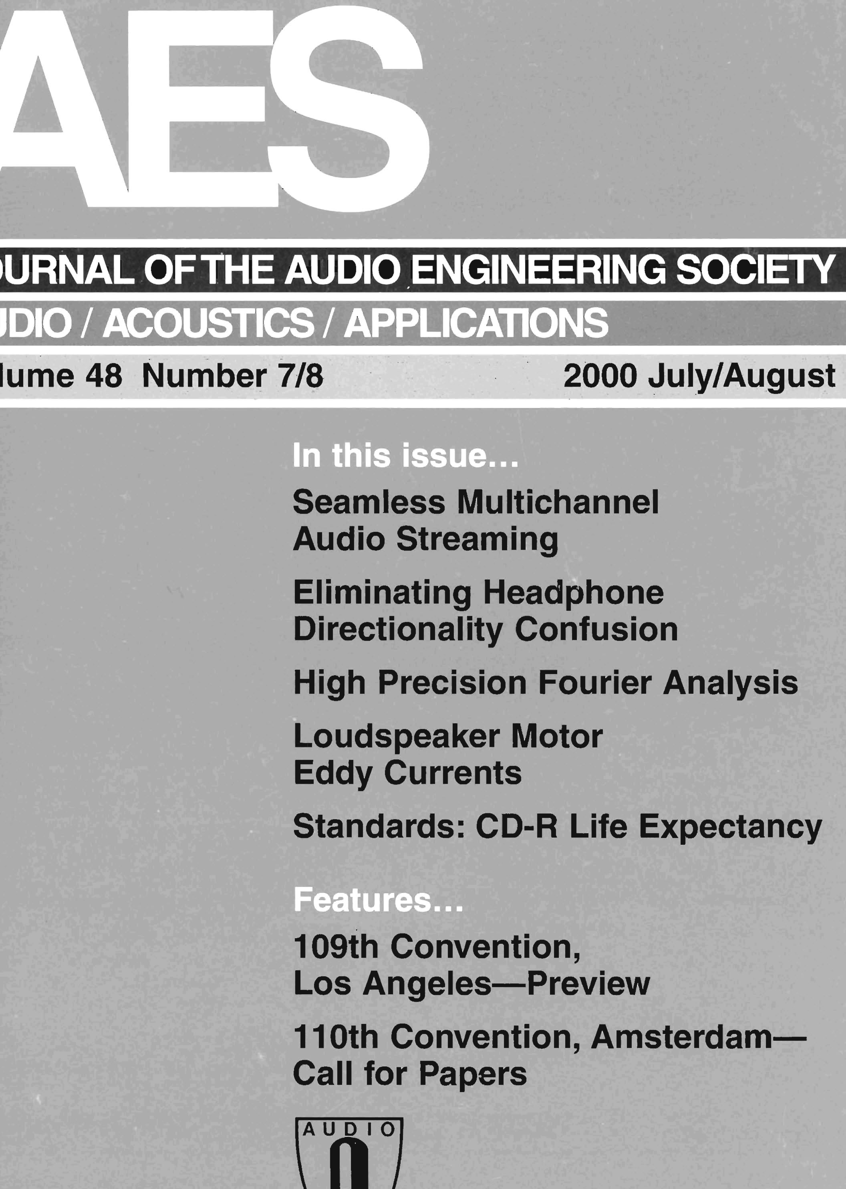 Aes E-Library » Complete Journal: Volume 48 Issue 7/8 - Mega Joystick Controller To Arudo Usb Wiring Diagram