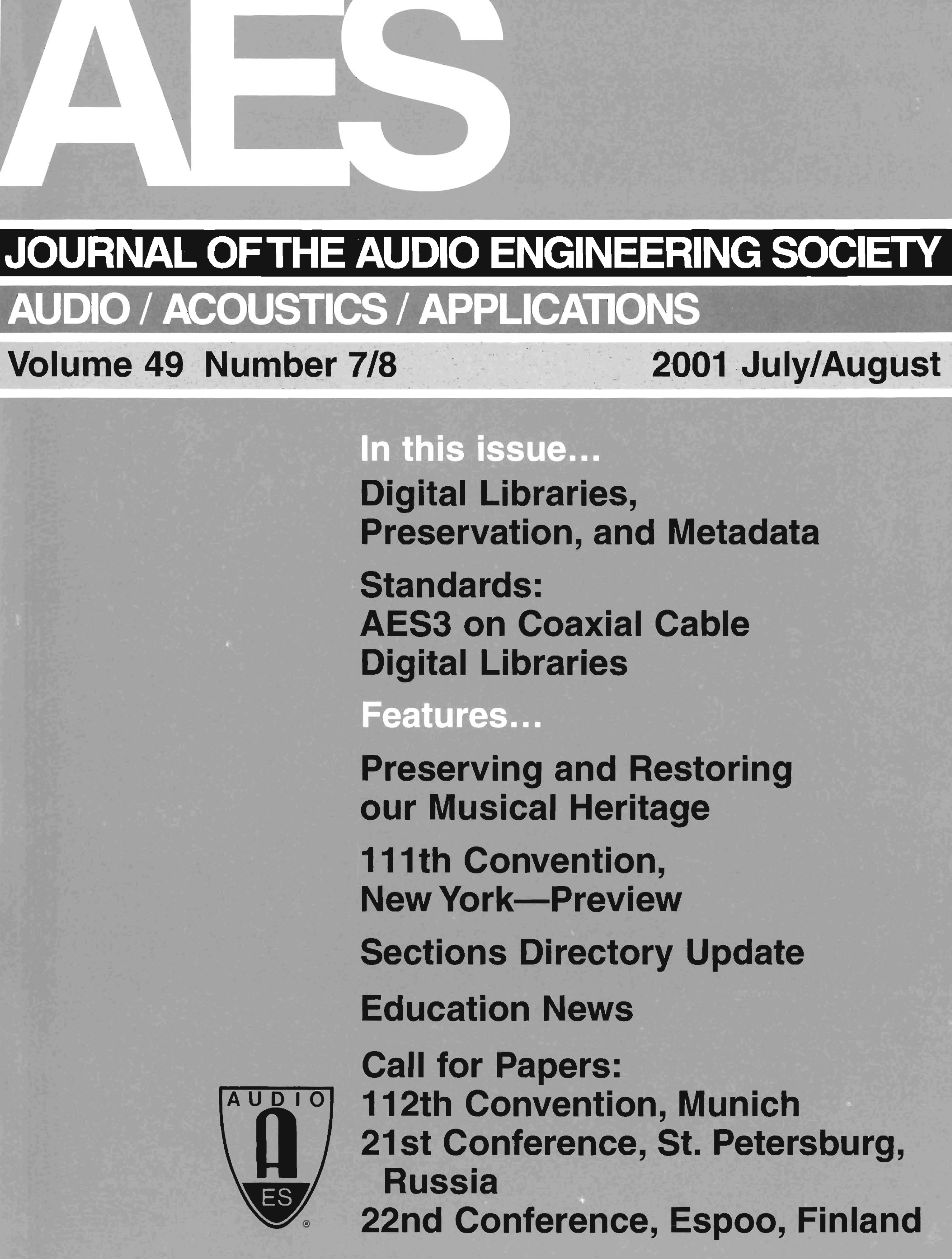 Aes E-Library » Complete Journal: Volume 49 Issue 7/8 - Mega Joystick Controller To Arudo Usb Wiring Diagram