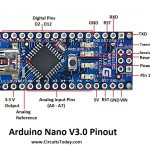 Arduino Nano Pinout & Schematics   Complete Tutorial With Pin   Arduino Nano Wiring Diagram To Usb