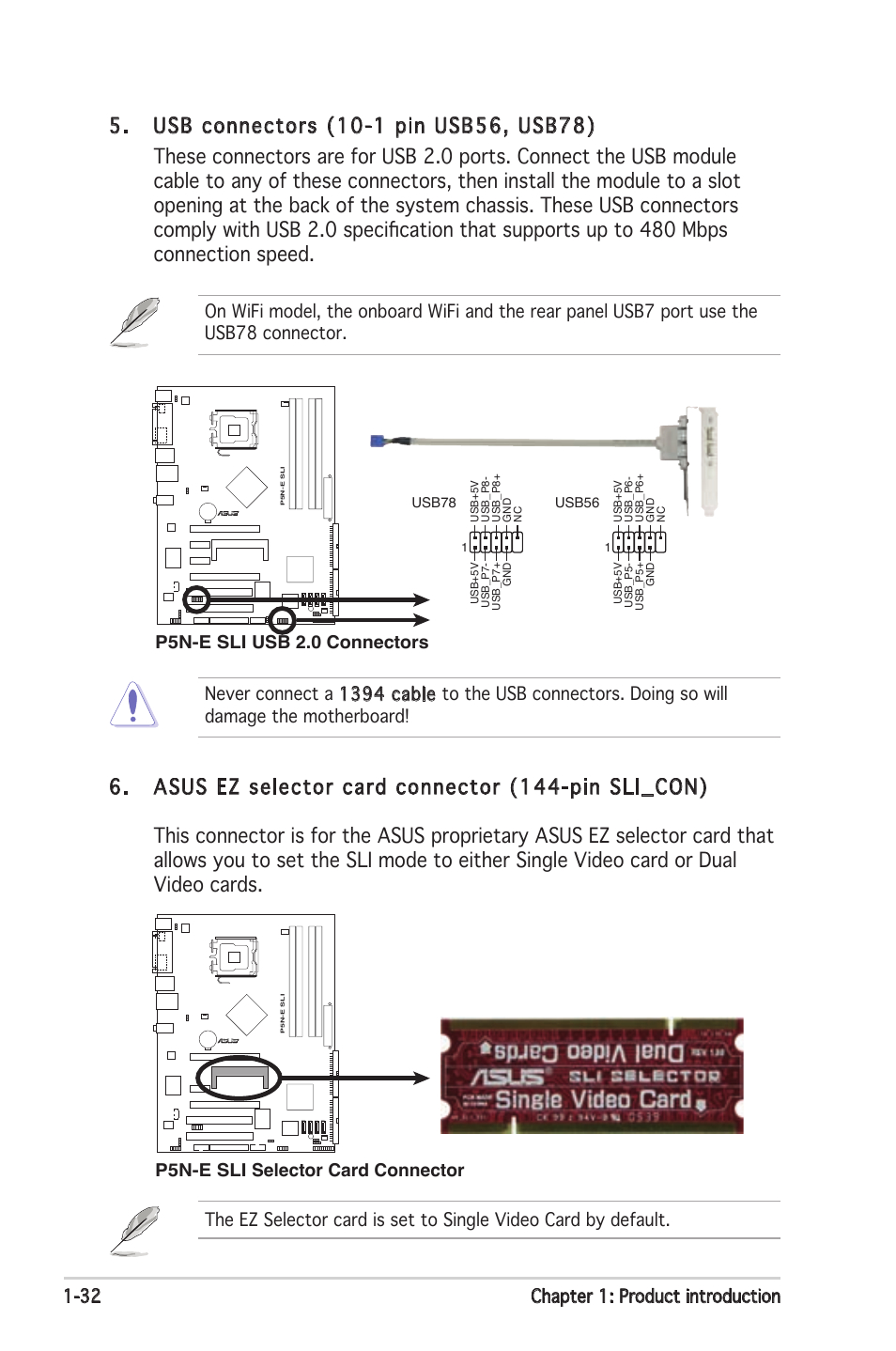 Asus P5N-E Sli User Manual | Page 46 / 122 - Asus P5Ne Usb Wiring Diagram