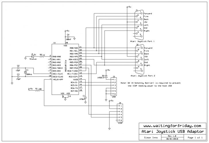 Usb To Joystick Adapter Wiring Diagram