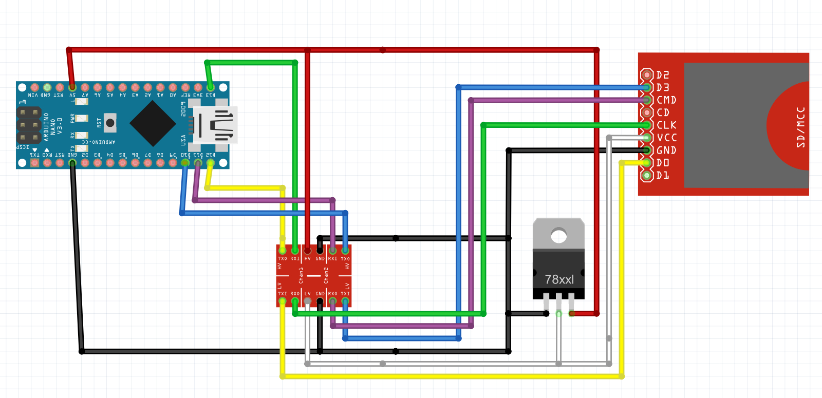 Basic Sd Card Reader Circuit - Usb Card Reader Wiring Diagram
