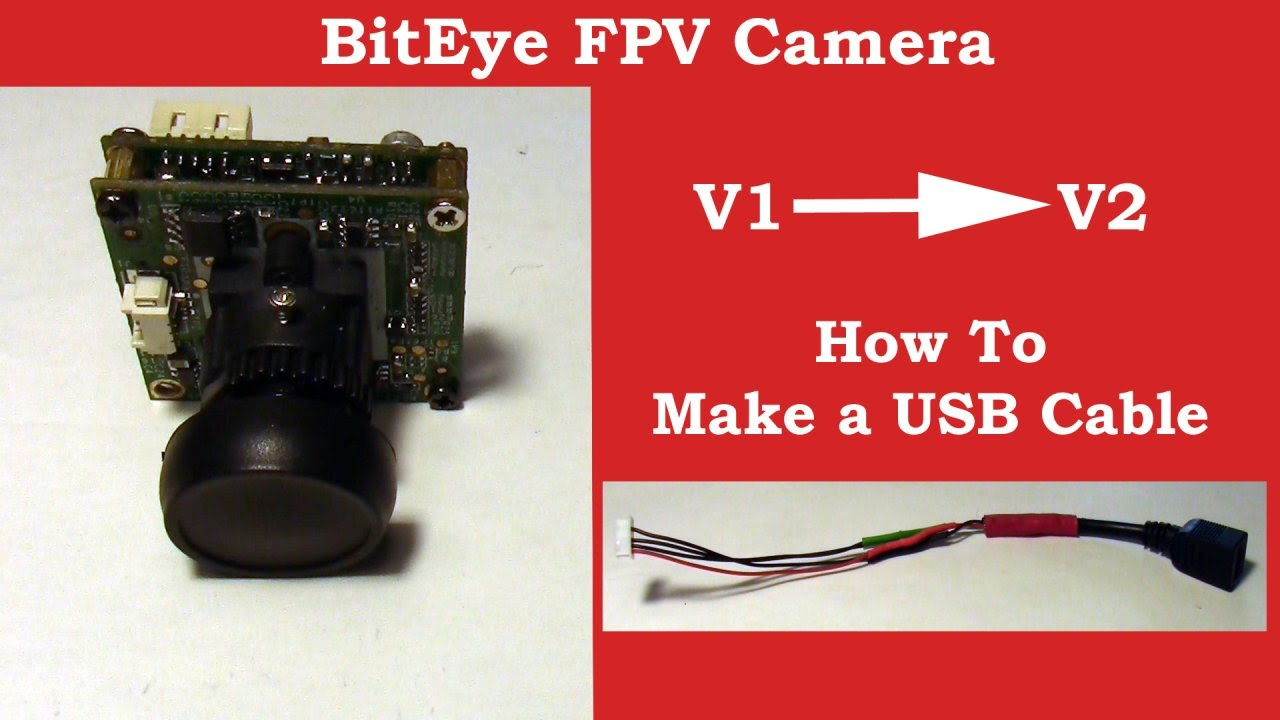 Biteye Fpv Camera - How To Make Usb Cable And Voltage Detect Cable - Usb To Camera Cable Wiring Diagram