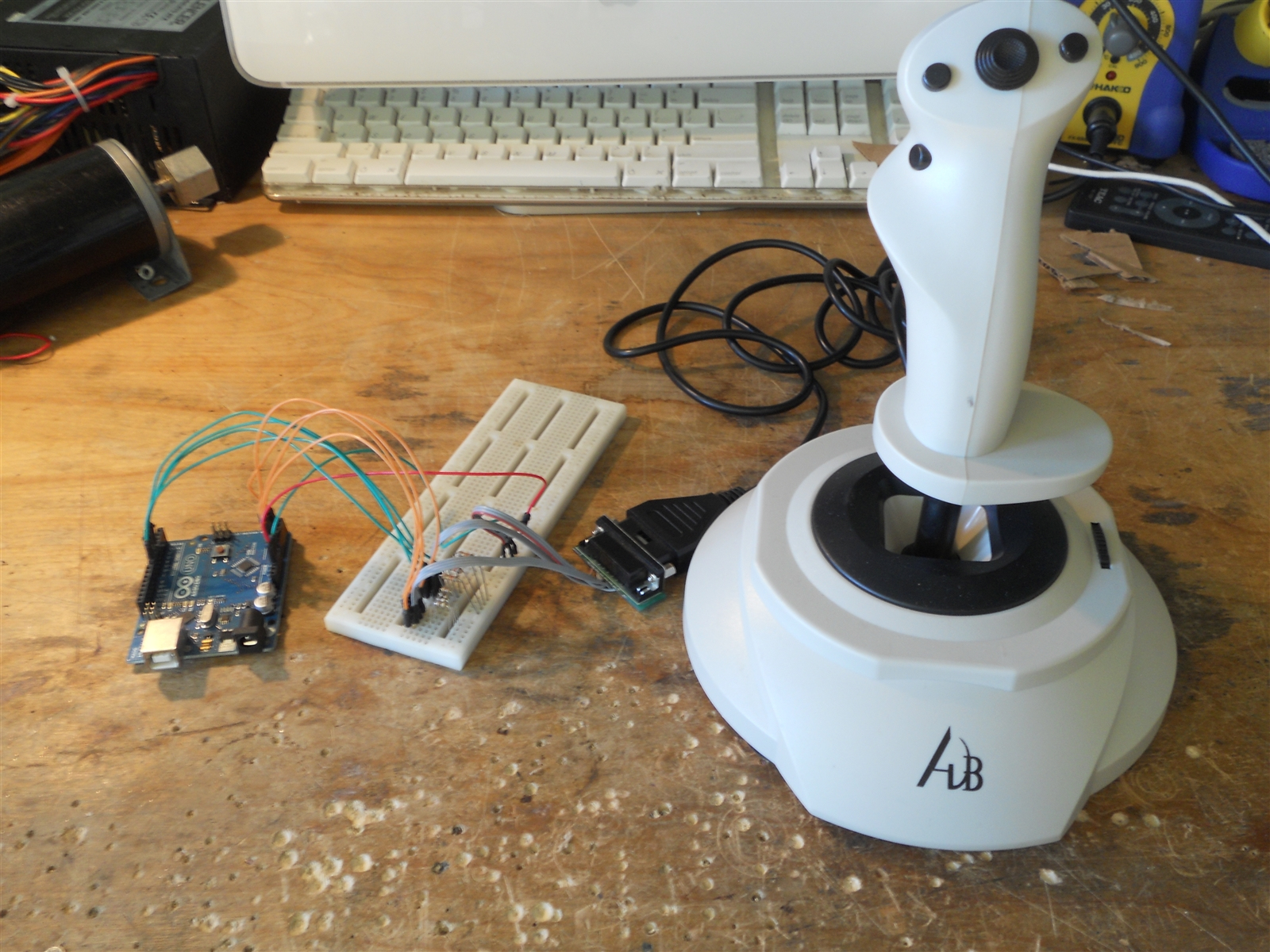 Buildits: Arduino Game Port Interface - Gameport To Usb Wiring Diagram
