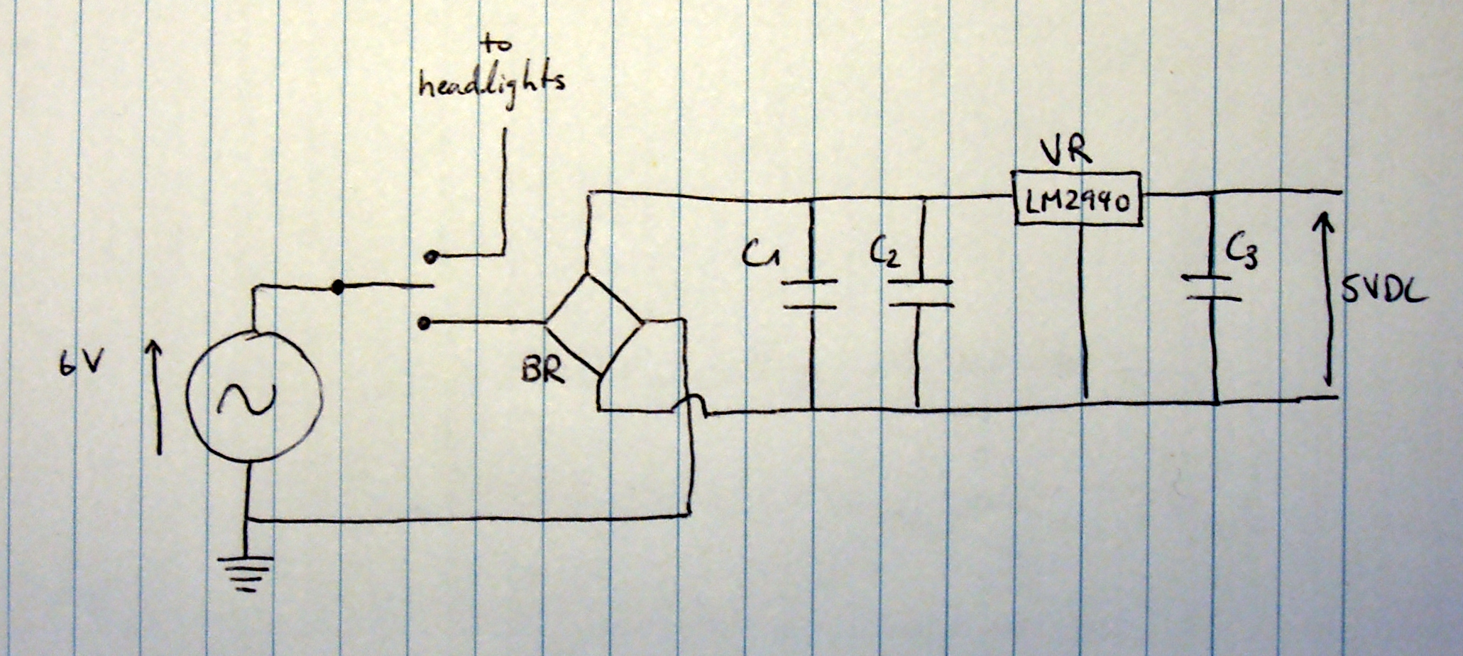 Charging Usb Devices From A Hub Dynamo   Parttimetinkerer - Diy Power Bar Wiring Diagram Usb Charger