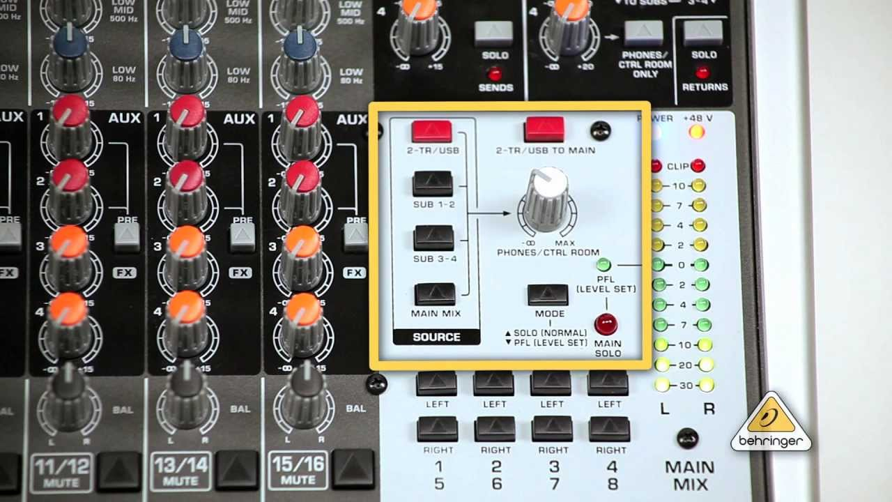 Control Room Outputs: How To Connect Behringer Xenyx Mixer With - Behringer Q802 Usb Wiring Diagram For Podcasting