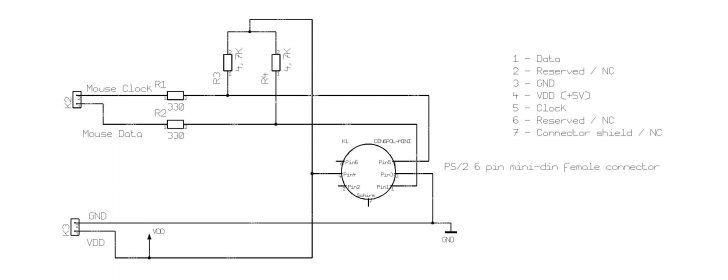 Ps2 Mouse To Usb Wiring Diagram -Power