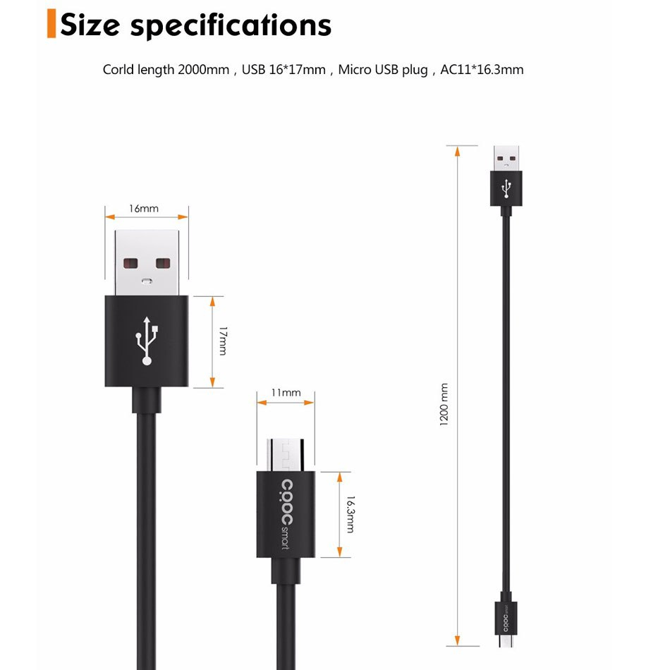 Crdc Micro Usb Cable Fast Data Sync Charging Android Phone Charger - Wiring Diagram For Micro Usb Charge Sync Cable