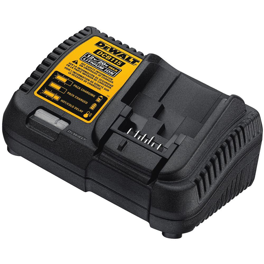Dewalt 12-Volt To 20-Volt Lithium-Ion Battery Charger-Dcb115 - The - Black And Decker 20V Usb Pack Wiring Diagram