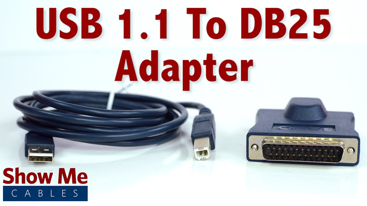 Easy To Use Usb 1.1 To Db25 Adapter - Connect Serial Devices To Your - Db25 To Usb Wiring Diagram