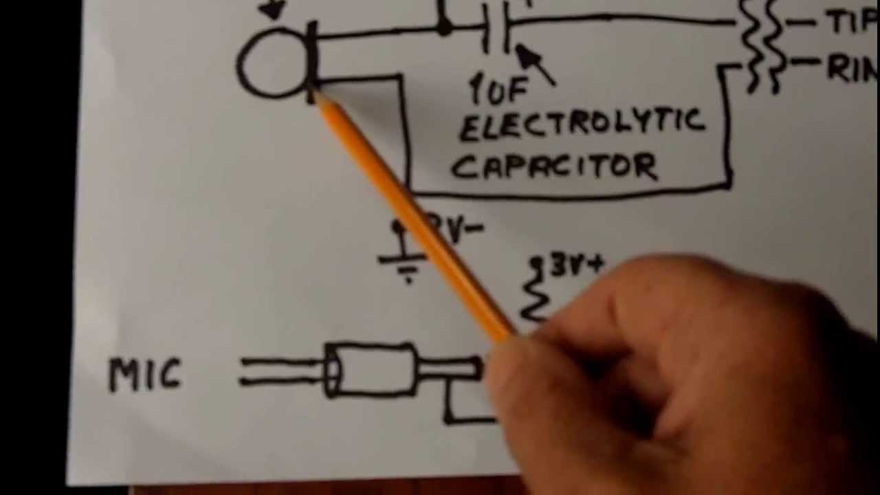 Electret Condenser Microphone Wiring - Youtube - Electret Microphone Wiring To Usb Diagram