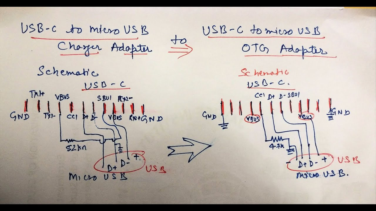English-Audio]-Usb C Type Adapter Hack: Converting Charging Adapter - Micro Usb Charger Port Wiring Diagram
