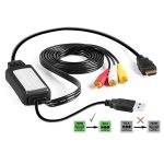 Exuby: Exuby Hdmi To Rca Cable Adapter Converts Digital Hdmi Signal   Usb To Av Cable Wiring Diagram