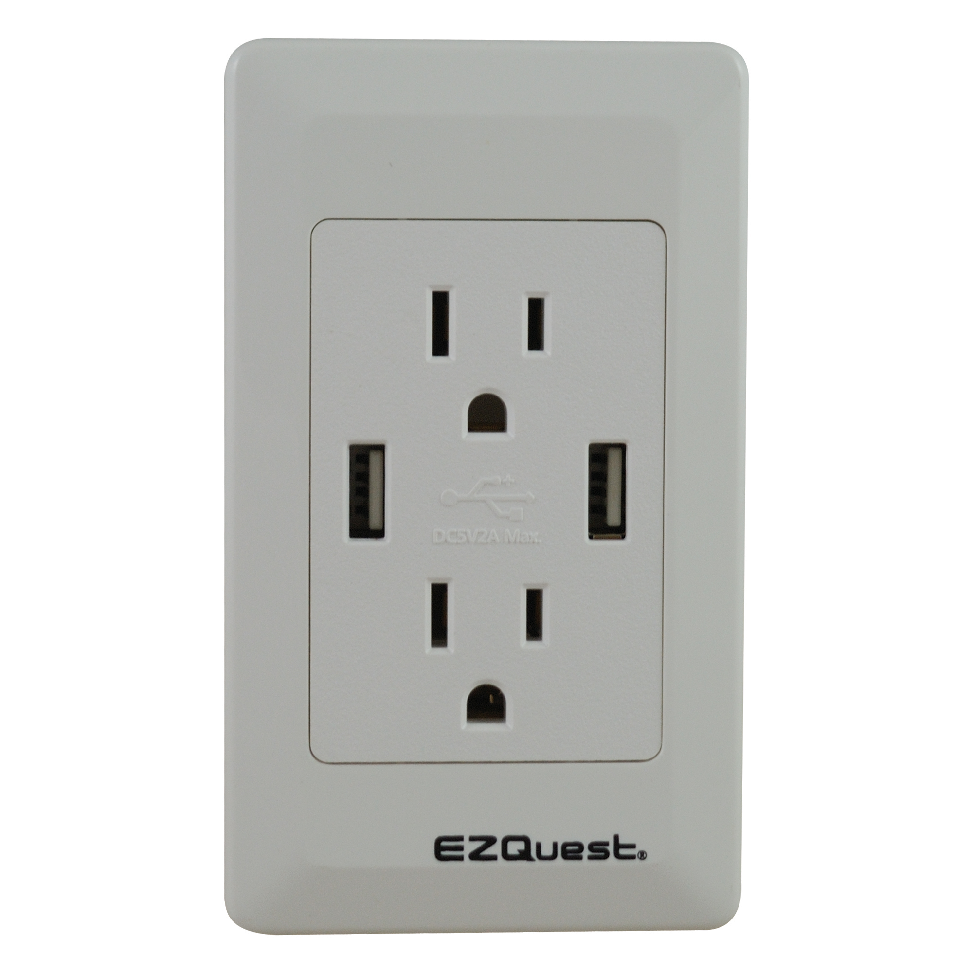 Ezquest Plug N' Charge Usb Wall Outlet Charger - Usb Receptacle Intertek Wiring Diagram