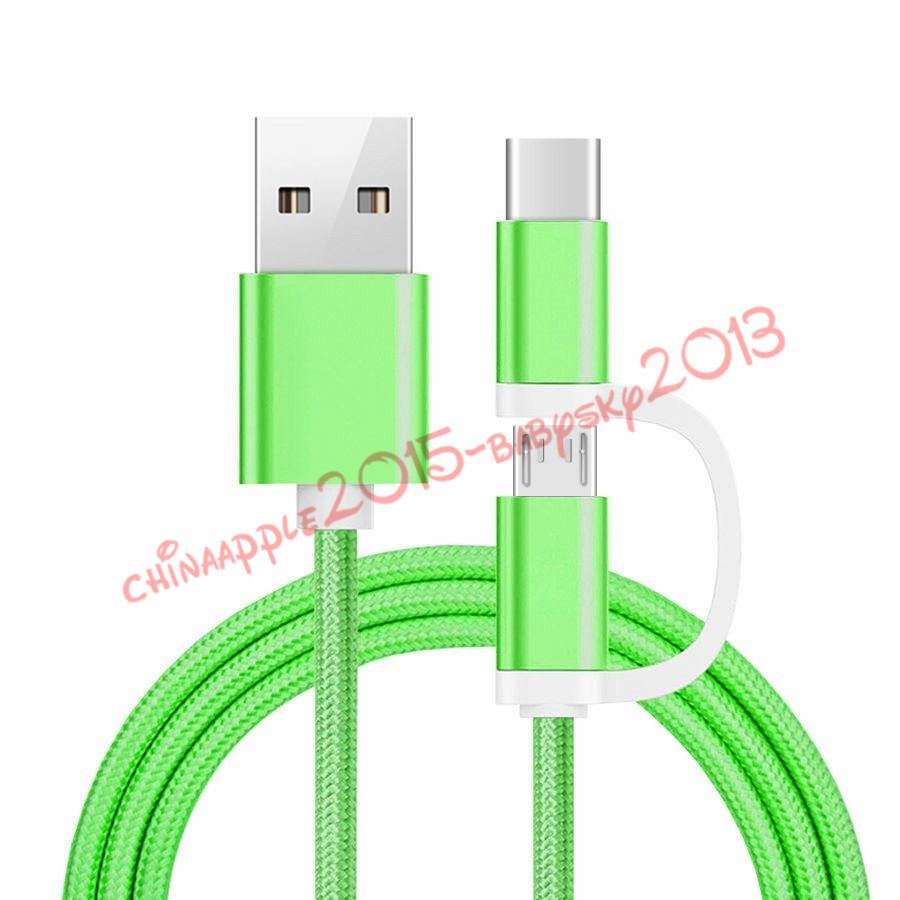Fabric Braided Cable 2 In 1 Nylon Alloy 1 M 3Ft Micro Type C Usb - Smiley Micro Usb Flat Cable V8 Inside Wiring Diagram
