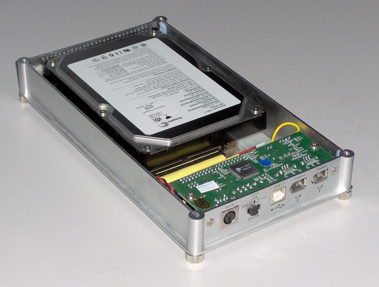 File:usb Firewire Hard Disk Enclosure - Wikimedia Commons - Firewire To Usb Wiring Diagram