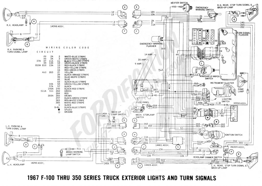 ford 1967 truck wiring diagram