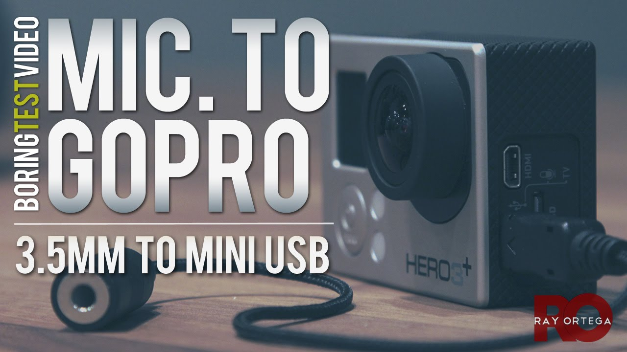 Gopro Microphone Input - 3.5Mm To Mini Usb Cable - Youtube - Micro Usb To Mic Wiring Diagram