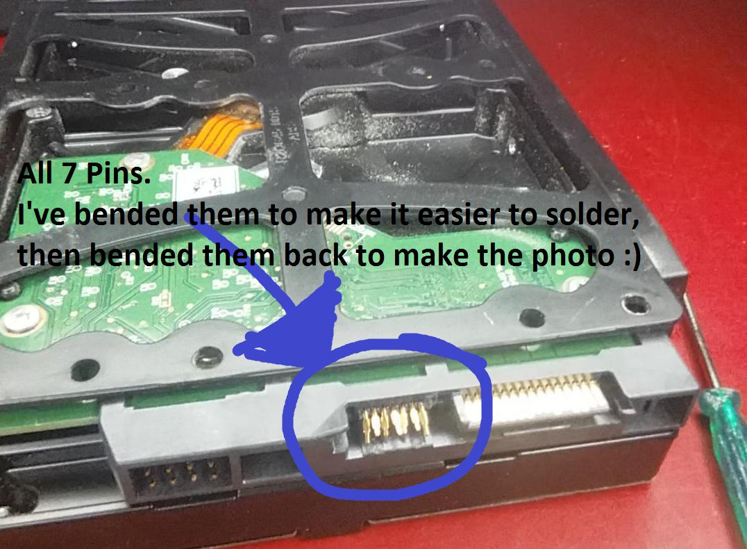 Hard Drive - Soldering A Sata-Data Cable To A Hdd - Super User - Sata Data Cable To Usb Wiring Diagram