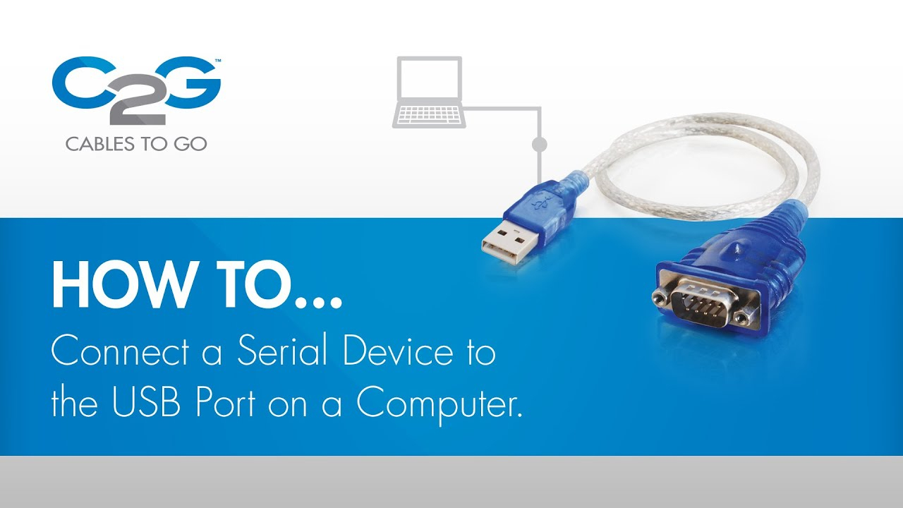 How To Connect A Serial Device Using Usb - Youtube - Serial Port To Usb Wiring Diagram