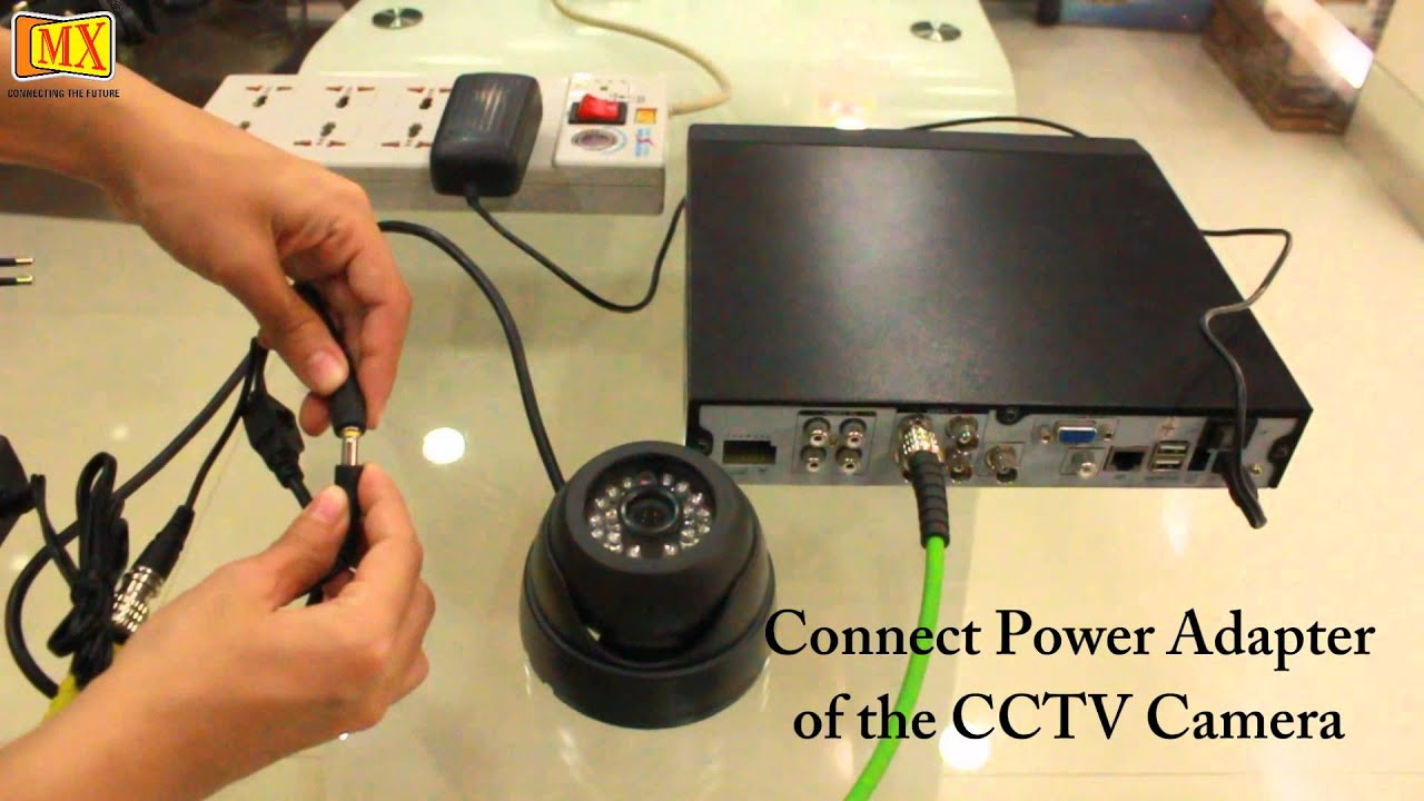 How To Connect Cctv Camera's To The Monitor Using Dvr - Youtube - Wiring Diagram To Connect Usb To Security Camera