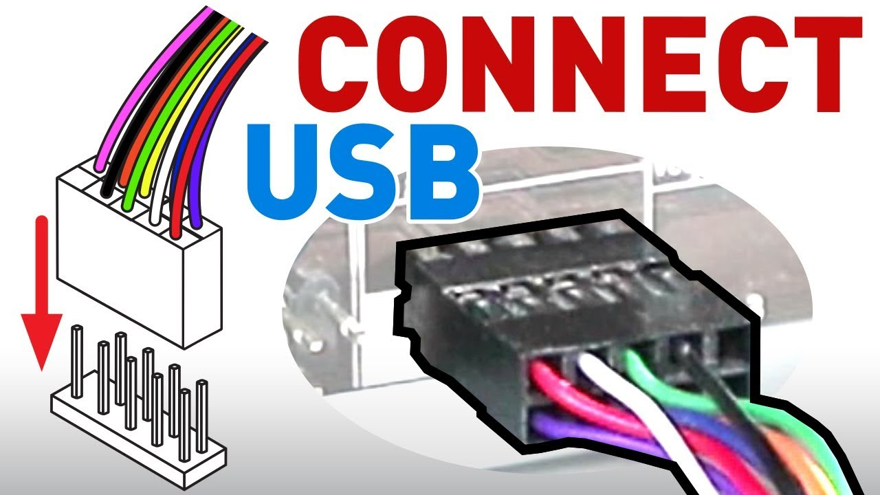 How To Connect The Usb Front Panel To Your Motherboard - Youtube - Usb Plug Wire Motherboard Wiring Diagram