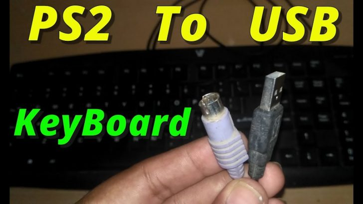 Wiring Diagram To Change A 6-Pin Keyboard Cable To A Usb