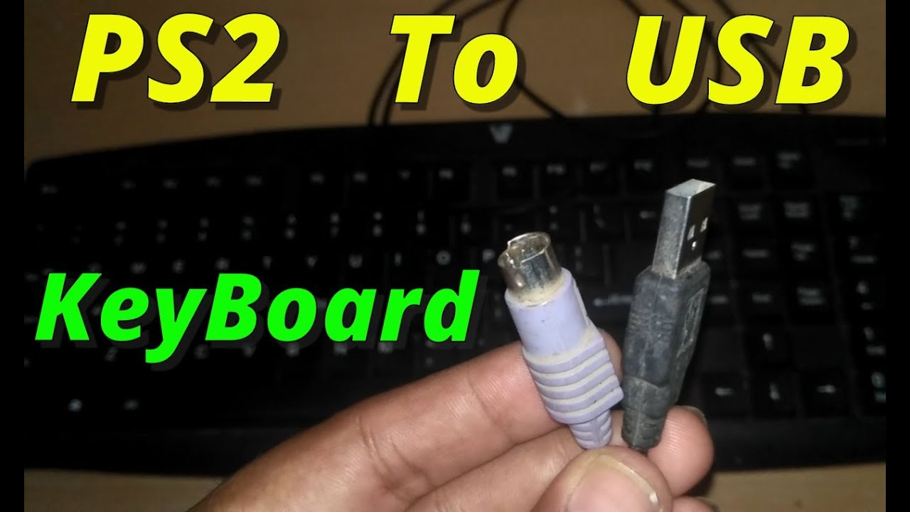 How To Convert Keyboard Ps2 To Usb (100% Working) [2018] - Youtube - Wiring Diagram To Change A 6-Pin Keyboard Cable To A Usb