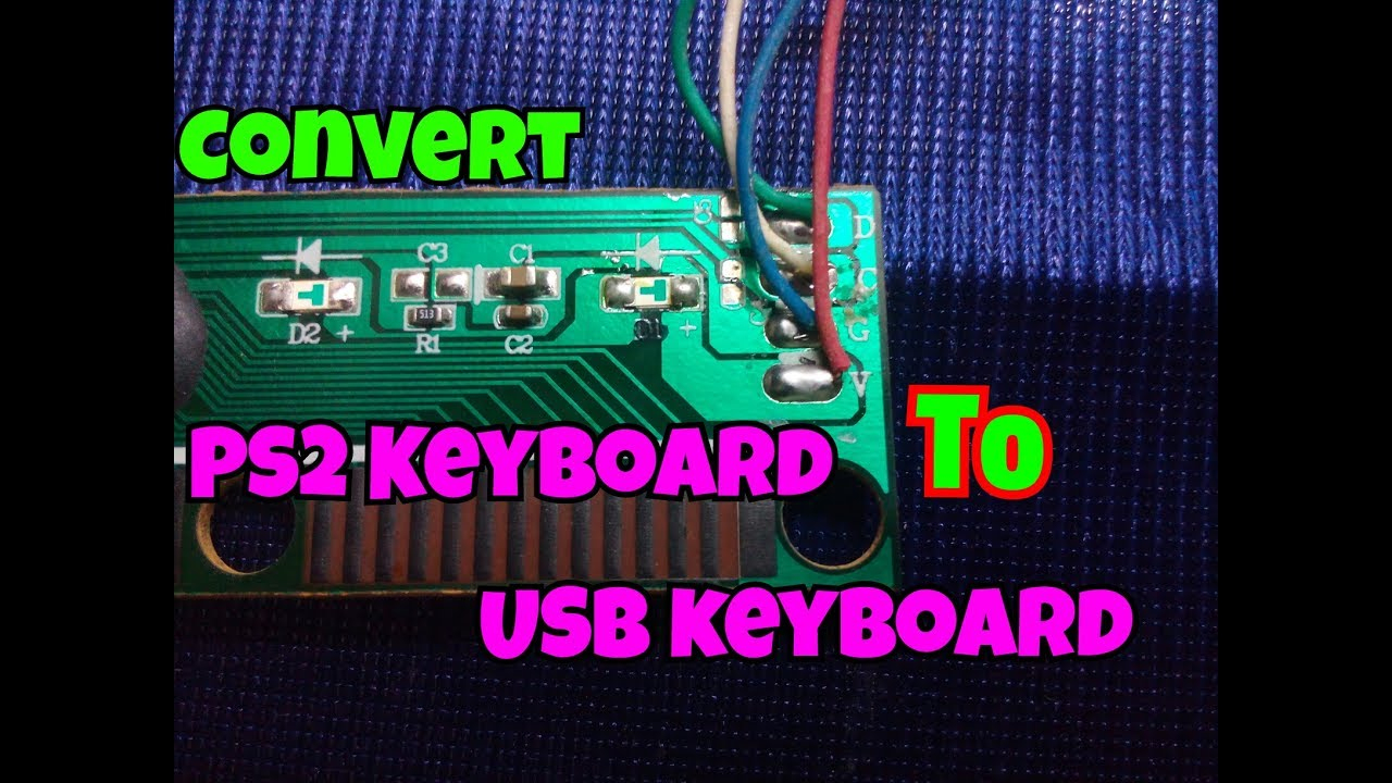 How To Convert Ps2 Keyboard To Usb Keyboard..[Ps2 To Usb]..simple - Keyboard Wiring Diagram Usb