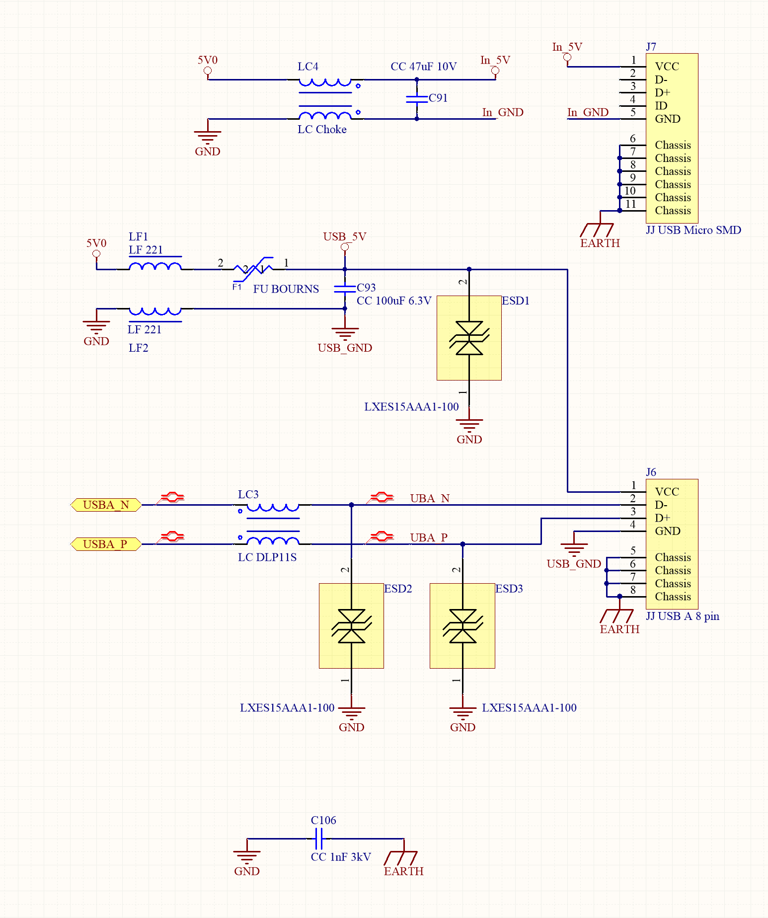 How To Design The Usb Circuitry - Micro Usb Female Wiring Diagram To Board
