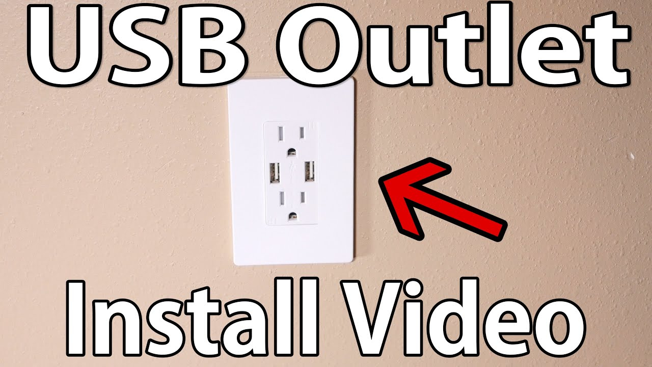 How To Install Usb Wall Outlet - Youtube - Usb Receptacle Intertek Wiring Diagram