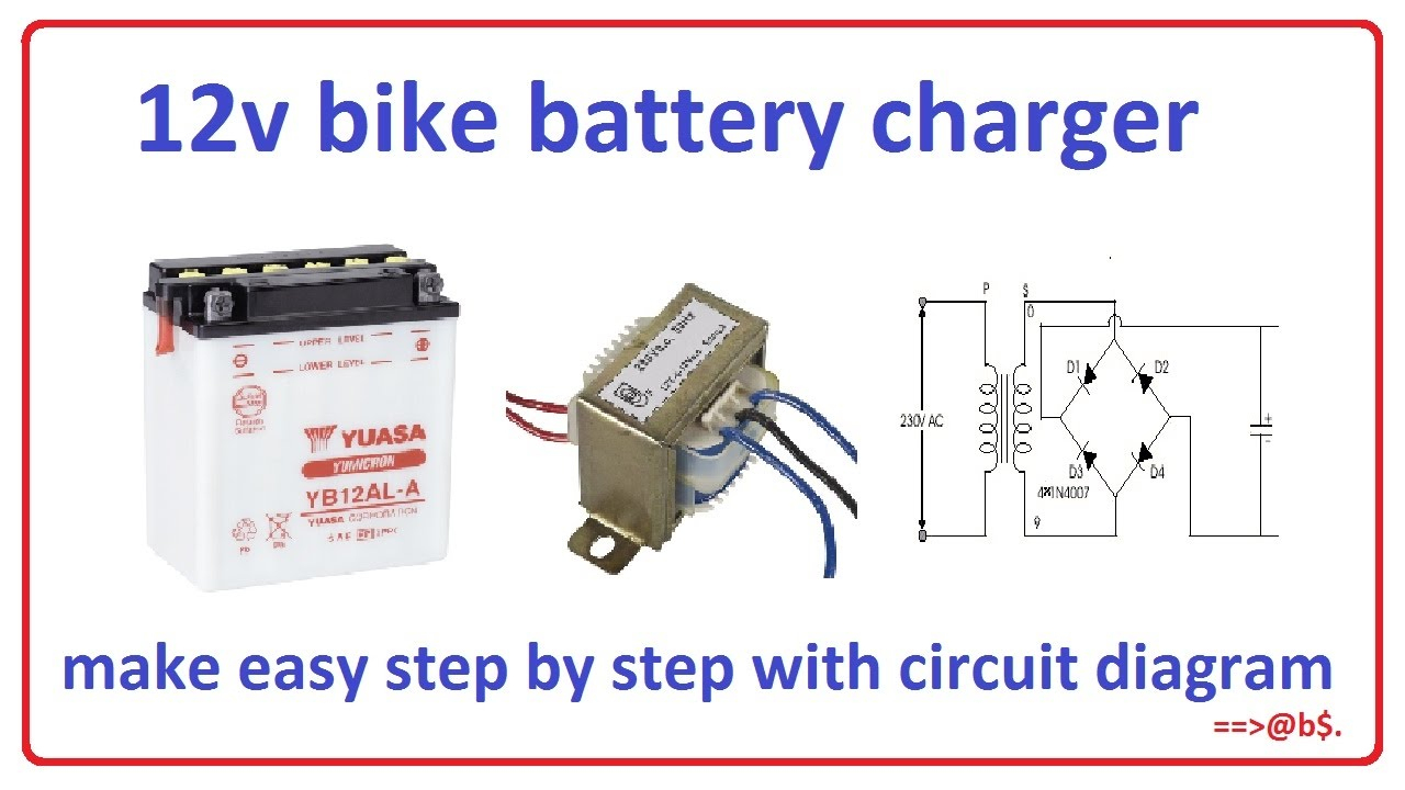 How To Make 12V Bike Battery Charger - Easy Stepstep With - Micro Usb Battery Charger Wiring Diagram