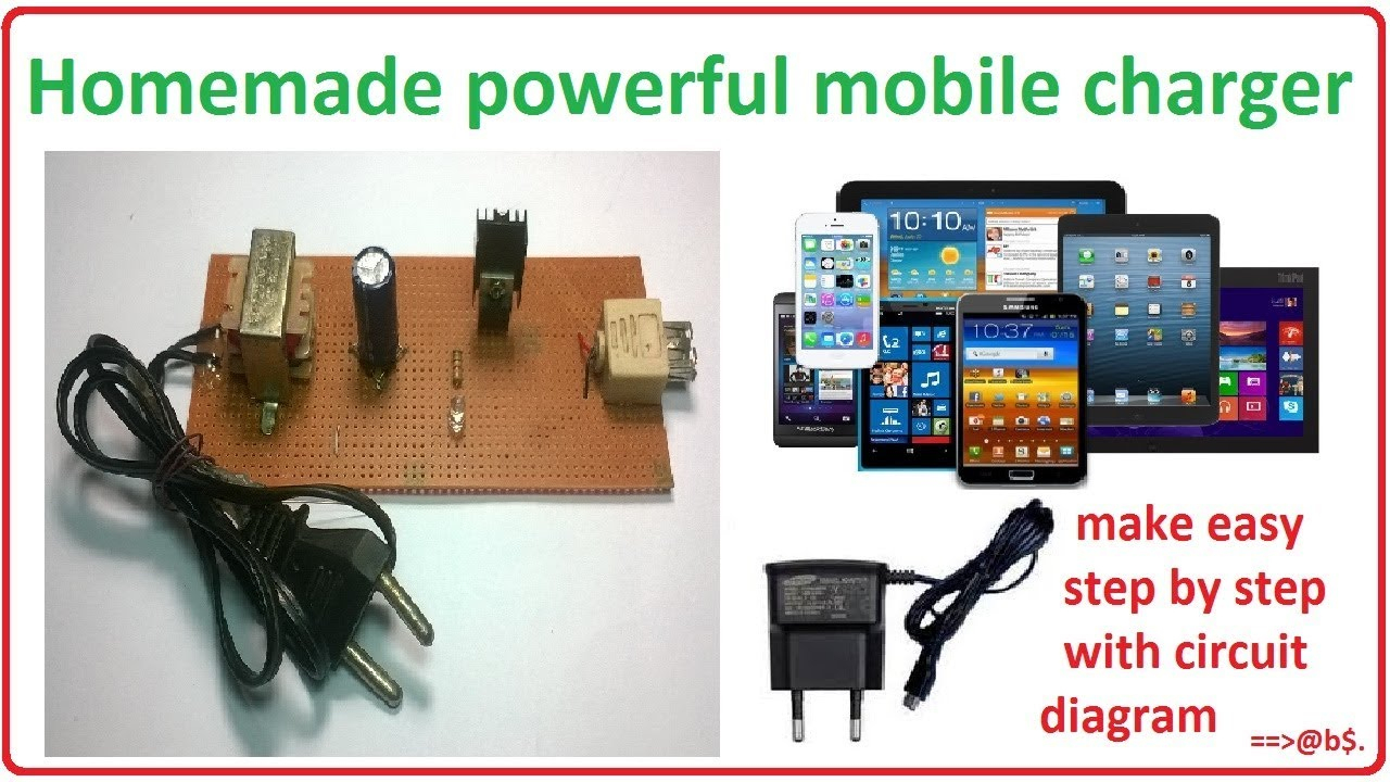 How To Make Mobile Charger At Home - Homemade Cell Phone Charger - Non Usb 12 Volt Phone Charger Wiring Diagram