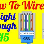 How To Make Straight Through Cable Rj45 Cat 5 5E 6 ( Wiring Diagram   Db9 To Usb Straight Through Wiring Diagram