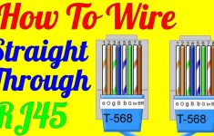 How To Make Straight Through Cable Rj45 Cat 5 5E 6 ( Wiring Diagram – Usb To Ethernet Wiring Diagram Blue Yellow