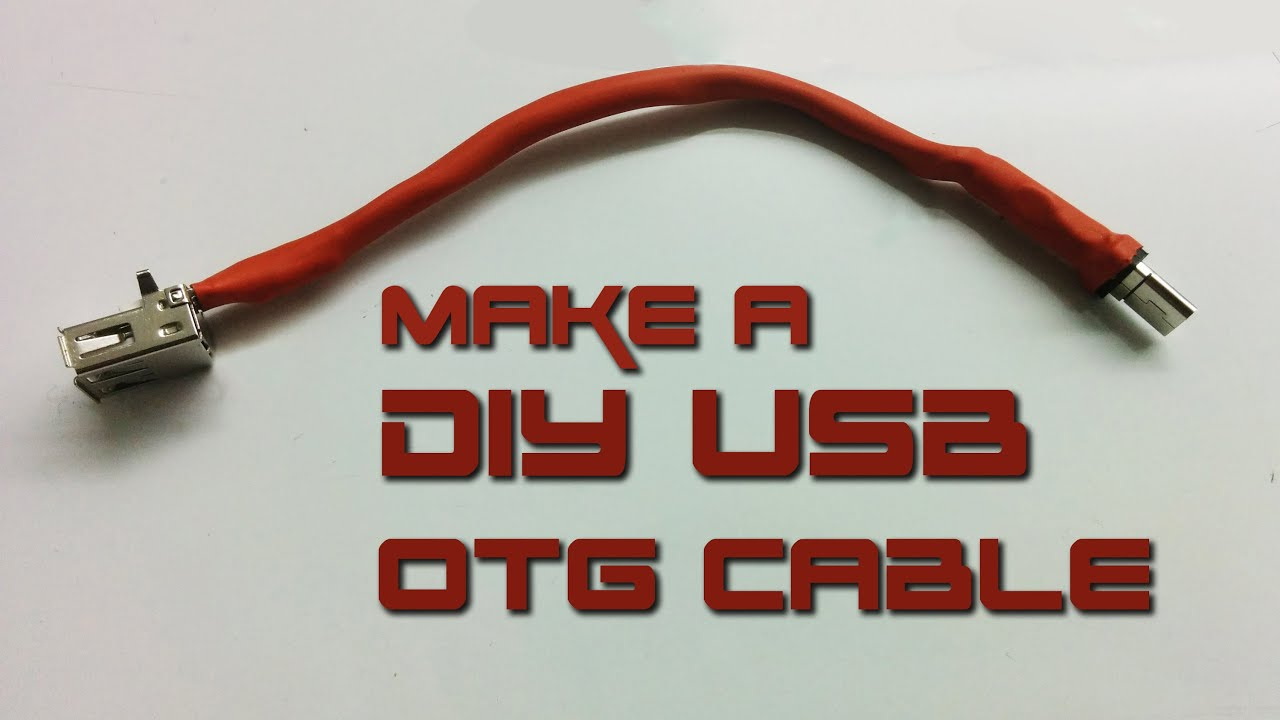 "How To Make Usb Otg ""on-The-Go"" Cable - Youtube - Phone Micro Usb To Usb Wiring Diagram"