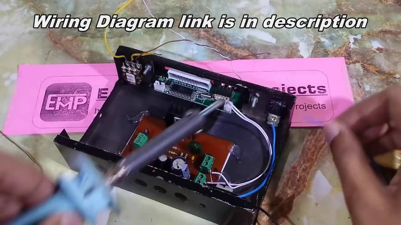 How To Make Usb Sd Mp3 Player Kit At Home Remote Controlled - Youtube - Usb Mp3 Player Wiring Diagram