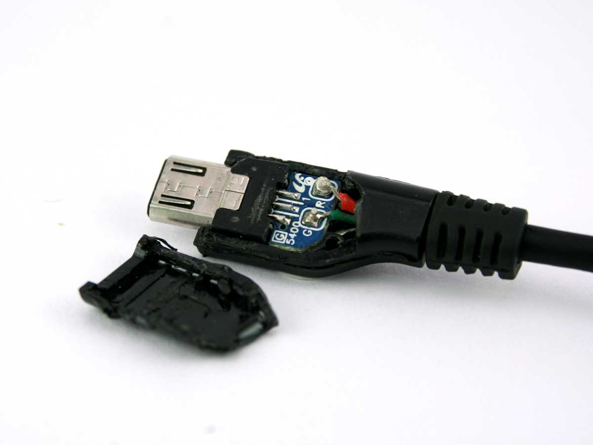 How To Make Your Own On-The-Go Usb Cable - Electronic Products - 5 Wire Usb Wiring Diagram