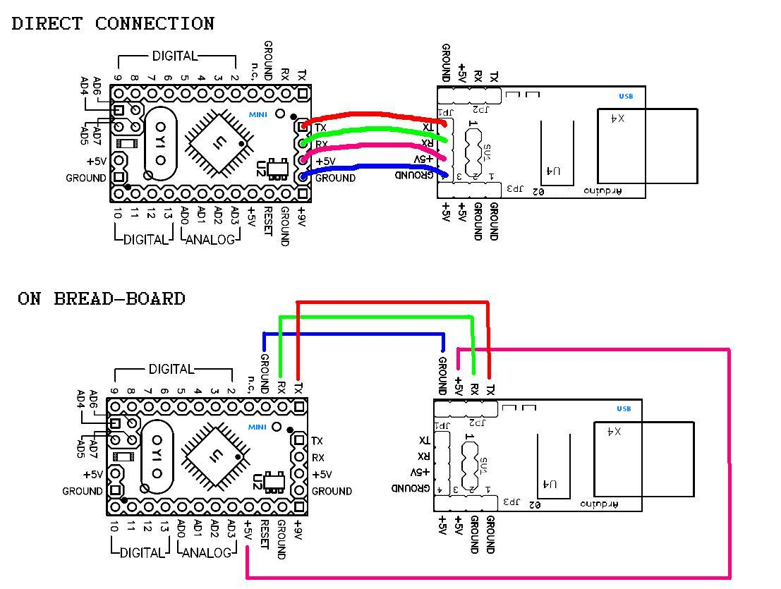 How To Program Arduino Nano / Pro-Mini / Pro-Micro Clone That Has No - Mini Usb Plug Wiring Diagram