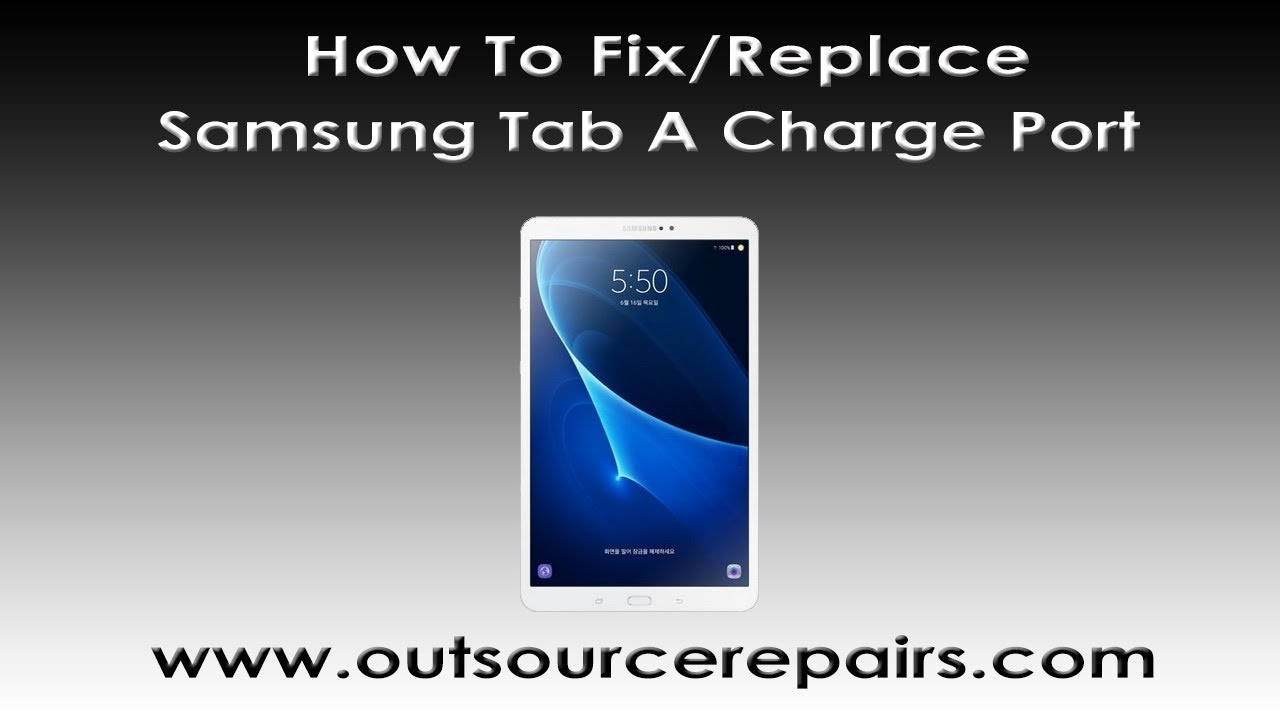 How To Replace Fix Samsung Tab A 10.1 Sm-T580 Usb Charge Port - Youtube - Wiring Diagram Sm-T350 Usb Port Ribbon Cable
